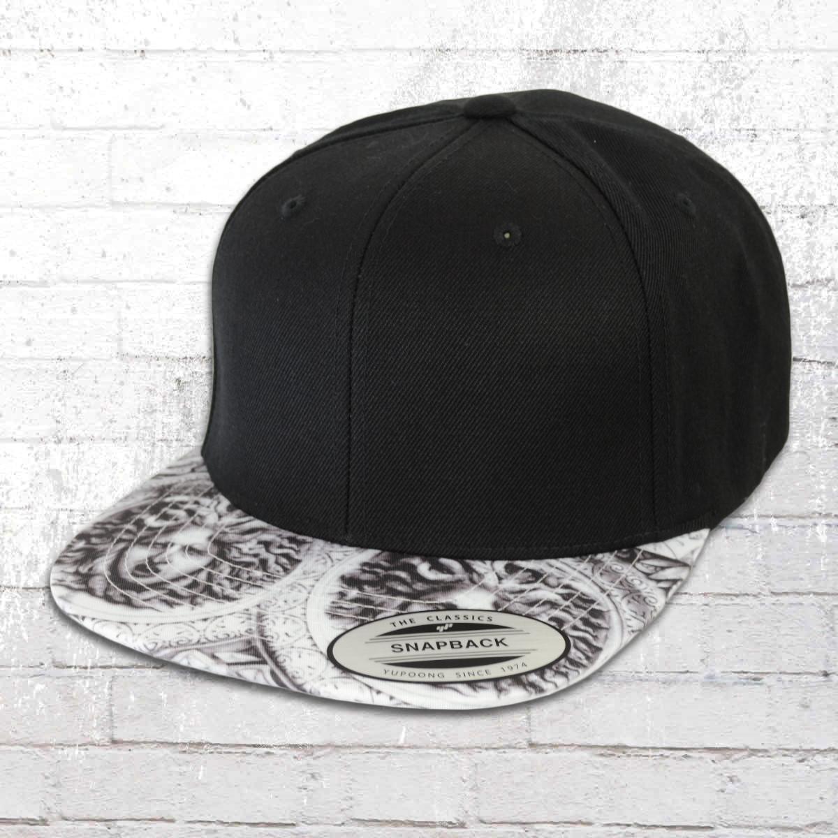 2d6edcf268e Yupoong by Flexfit Hat Sun King Snapback Cap schwarz weiss. ›‹ «