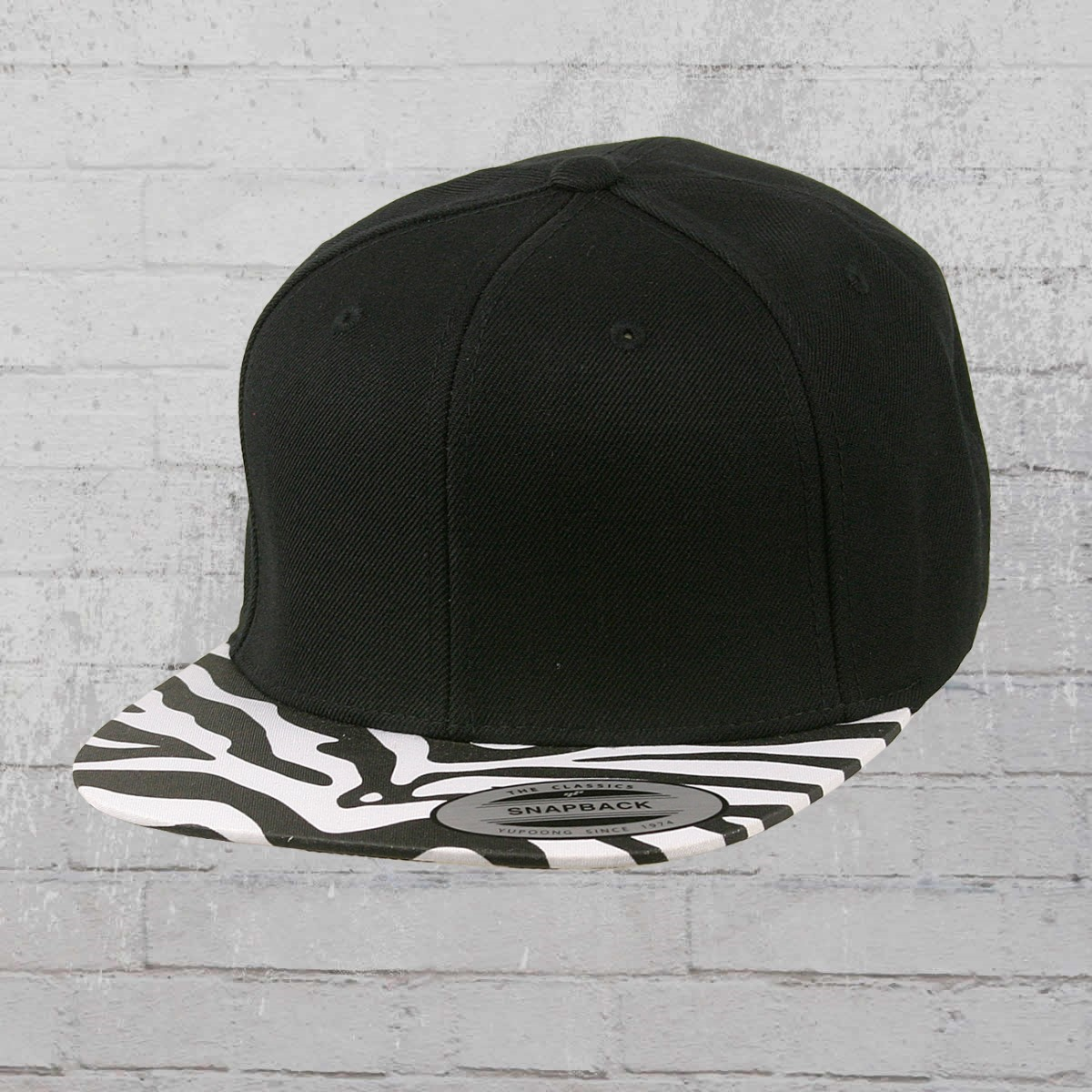 0a9a940919cc6 Yupoong by Flexfit Hat Classic Animal Snapback Cap black zebra. ›‹ «
