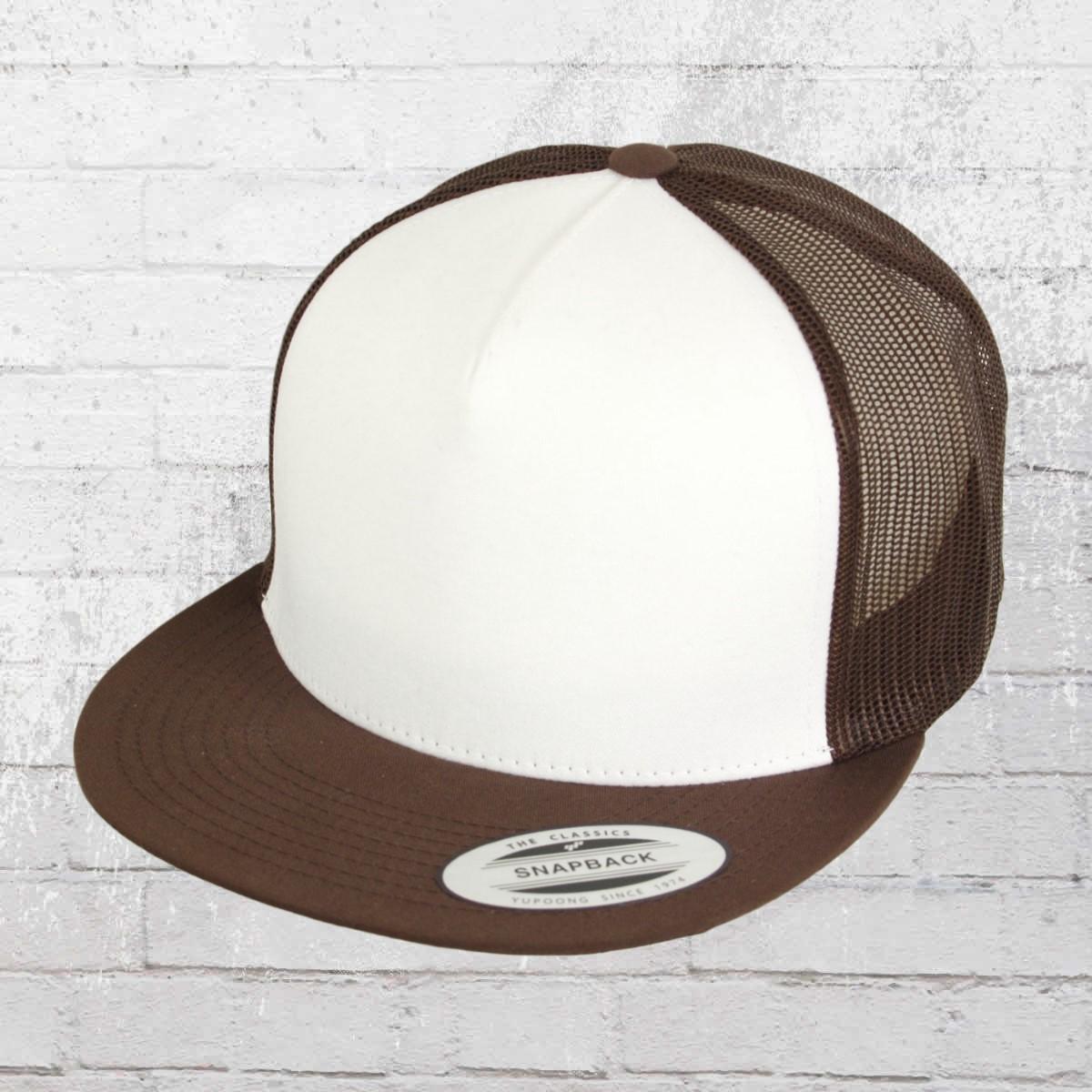 Yupoong Flexfit Classic Trucker Snapback Cap brown white brown. ›‹ « 43f6048aaf46