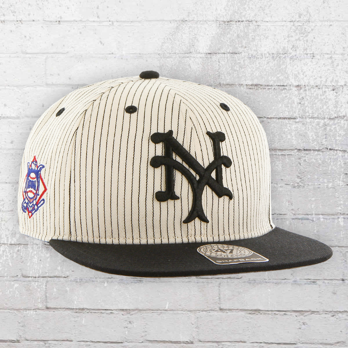 786bb139f80fb ... 47 brand new york yankees mlb allover print snapback cap black white  2499 ...