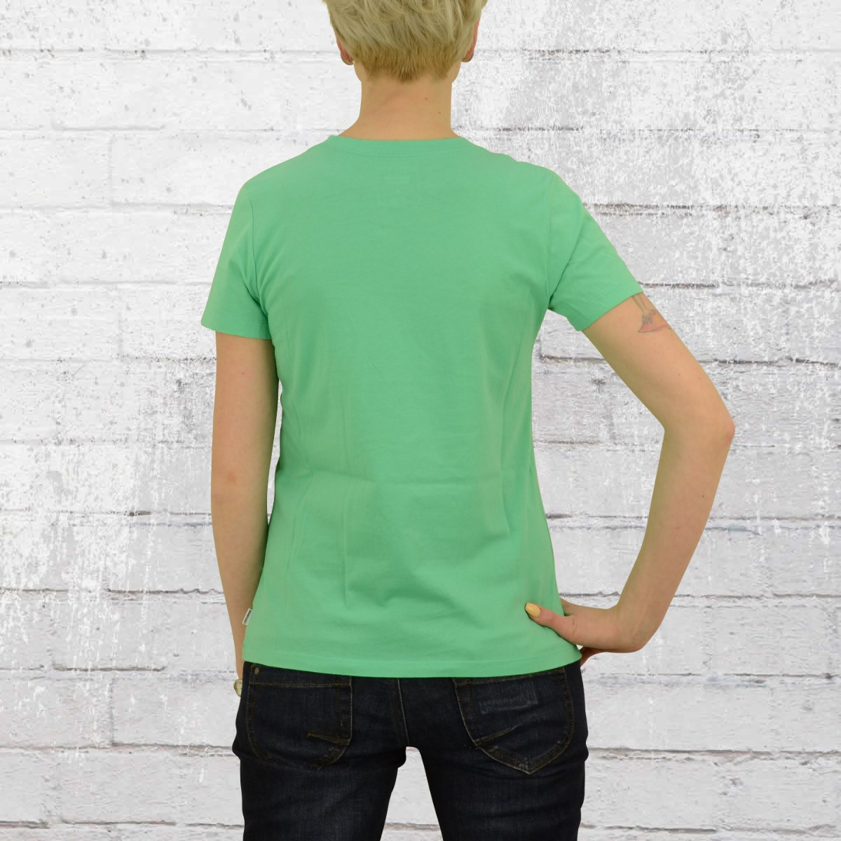 7817f26557f6 Have you seen  Derbe Ladies T-Shirt Seahorse green balbes melange