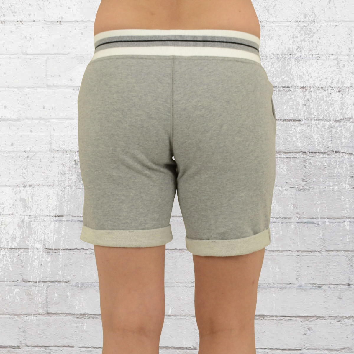Order now   Converse Ladies Sweat Shorts Core Plus Short grey heather d4b8be23a4ee