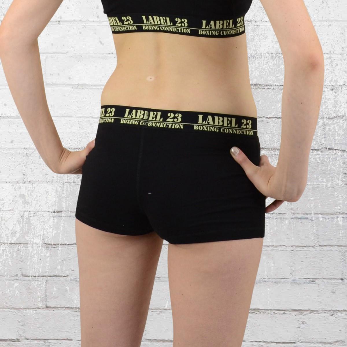 order now label 23 womens sport gym panty black beige. Black Bedroom Furniture Sets. Home Design Ideas