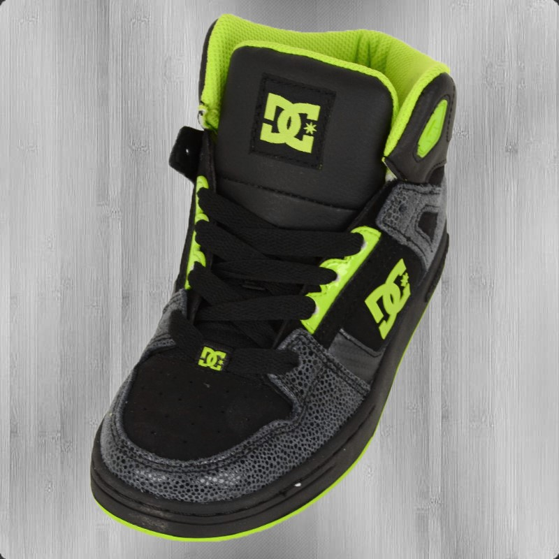 order now dc shoes sneaker rebound high se black green