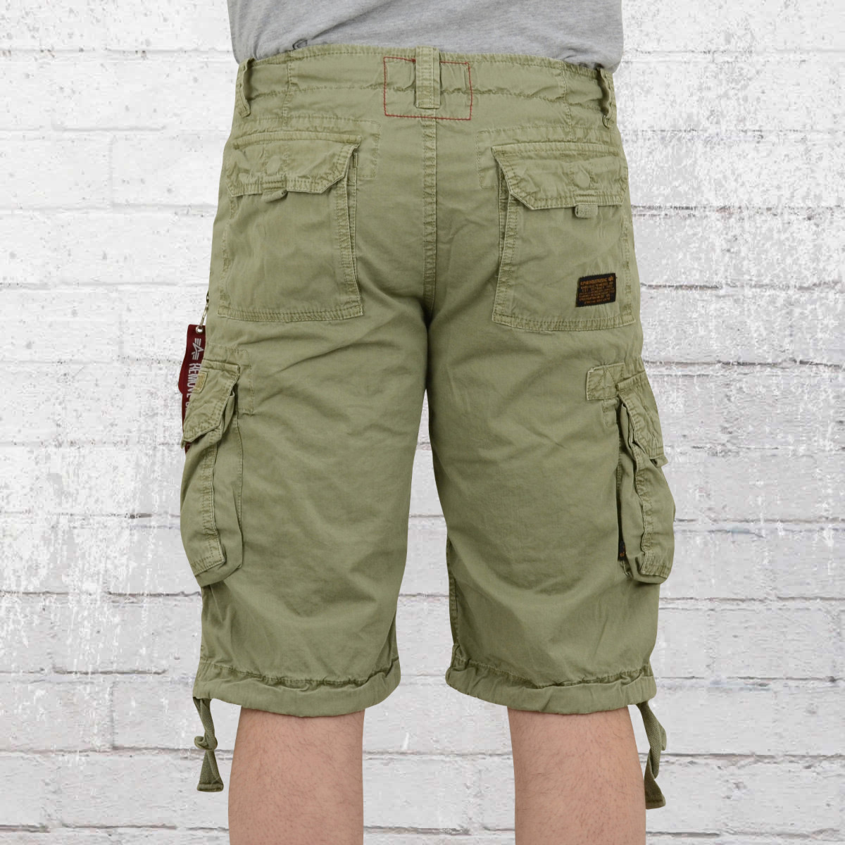 jetzt bestellen alpha industries herren cargo short jet light olive gr n krasse. Black Bedroom Furniture Sets. Home Design Ideas
