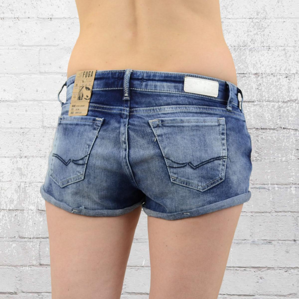 jetzt bestellen fuga denim jeans shorts damen kiki hot pant blau krasse. Black Bedroom Furniture Sets. Home Design Ideas