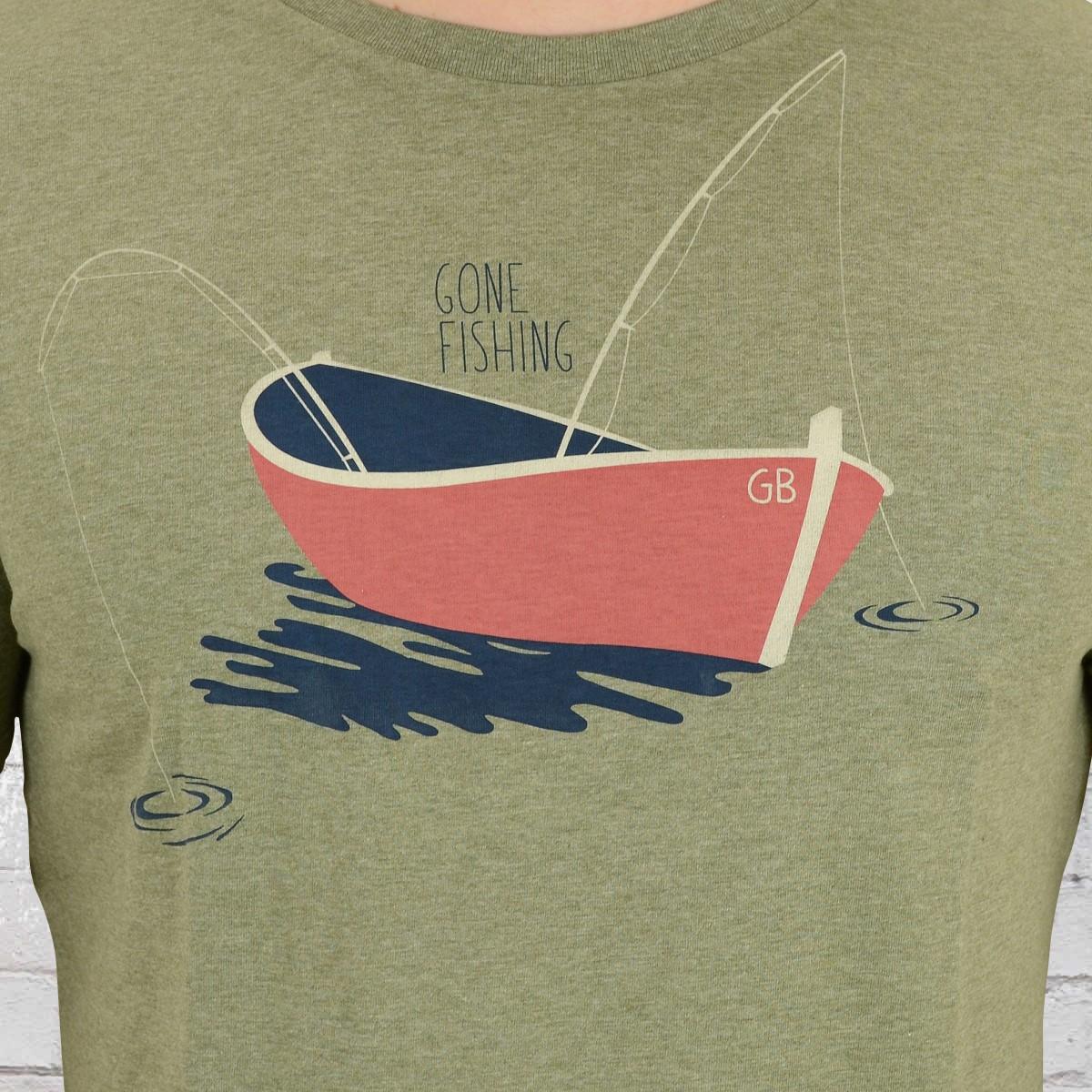 quality design 3330c 47fef Order now   Greenbomb Mens T-Shirt Nature Gone Fishing mid ...
