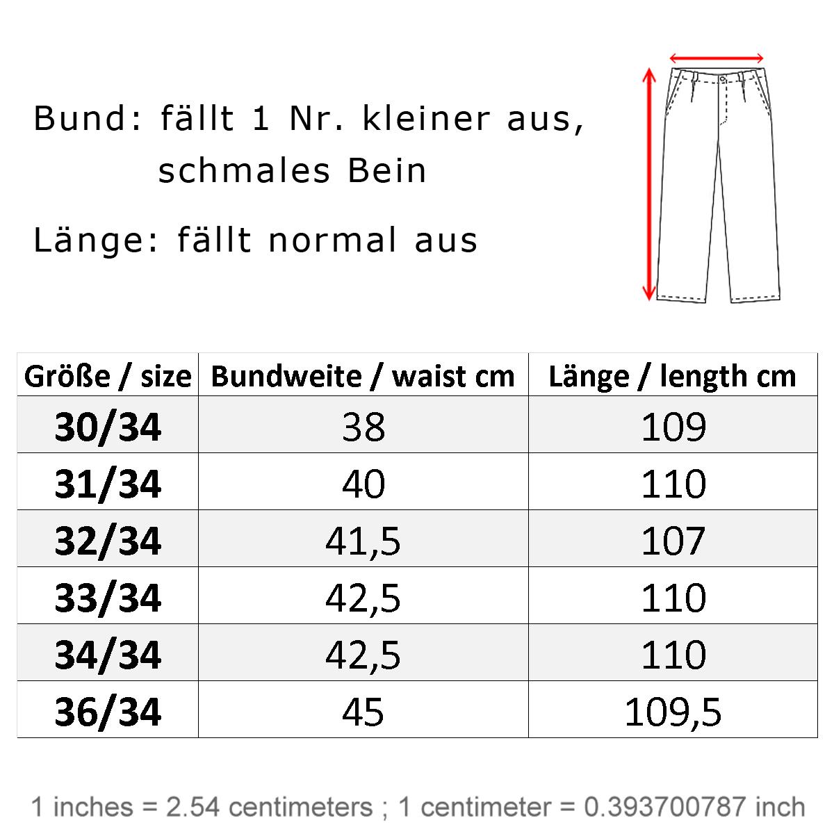 herren jeans größe
