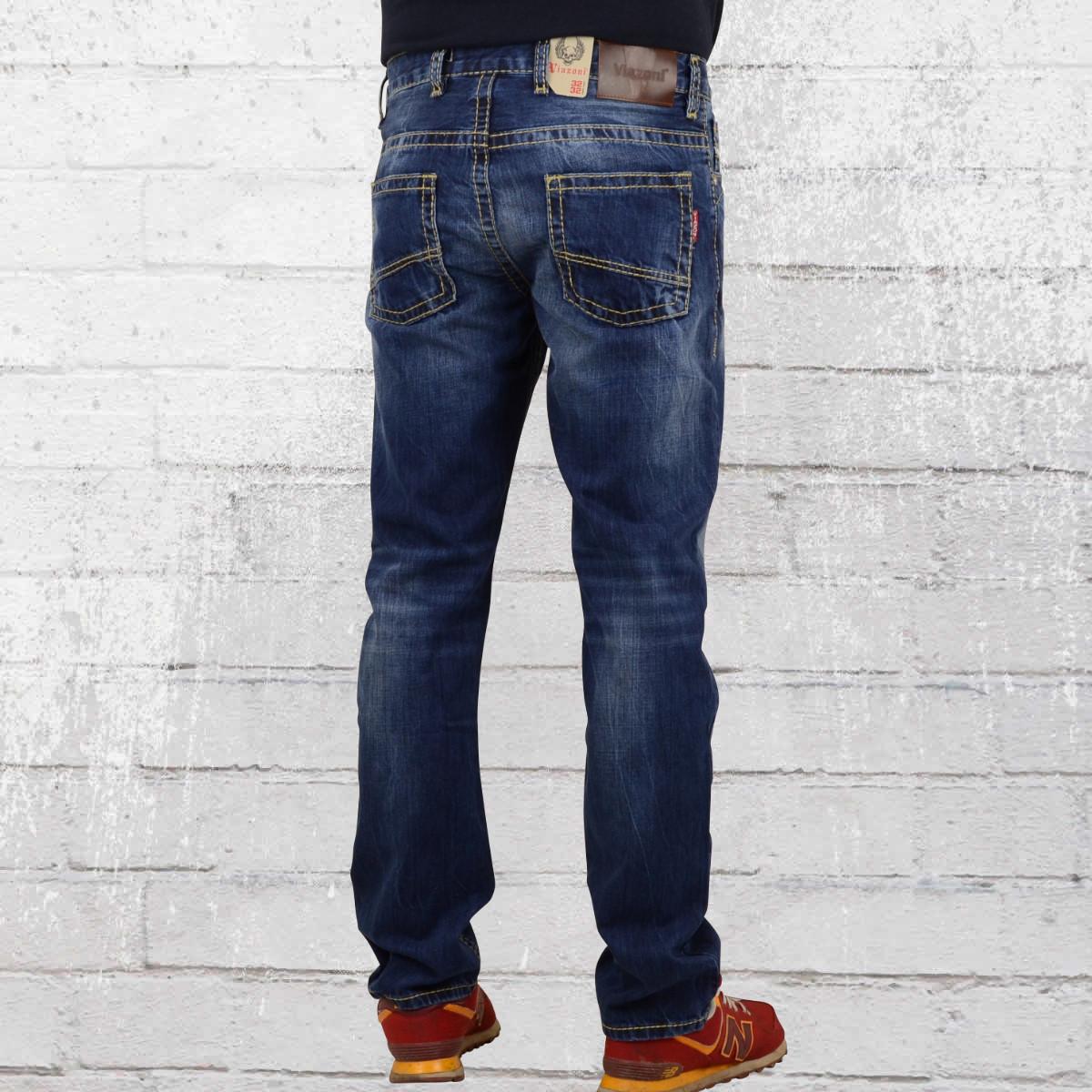jetzt bestellen viazoni m nner jeanshose nino dunkelblau krasse. Black Bedroom Furniture Sets. Home Design Ideas