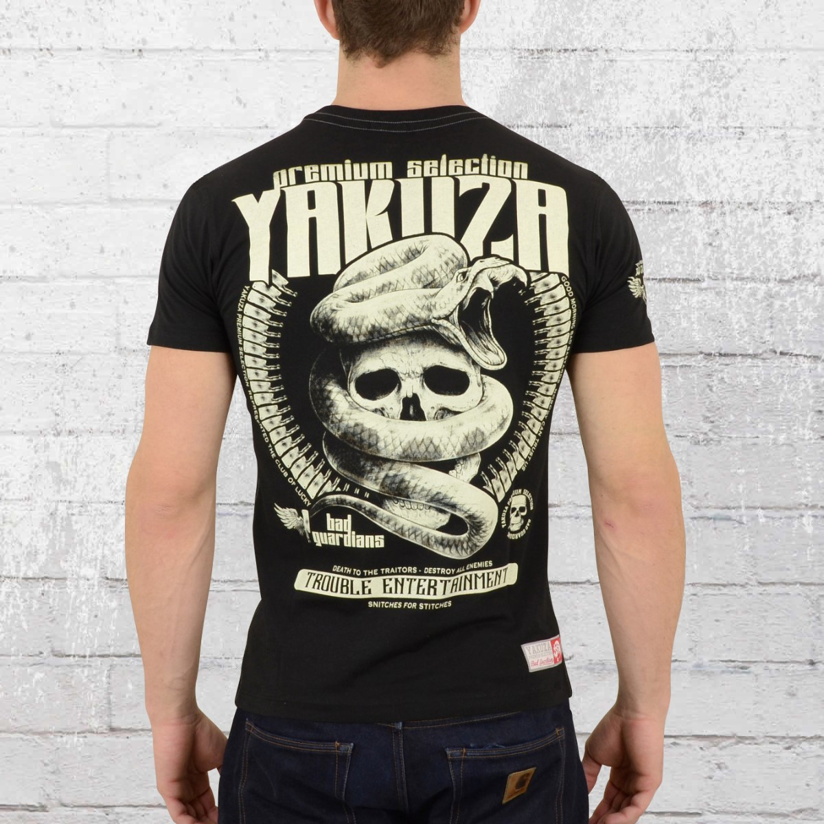 order now yakuza premium mens tee shirt trouble. Black Bedroom Furniture Sets. Home Design Ideas