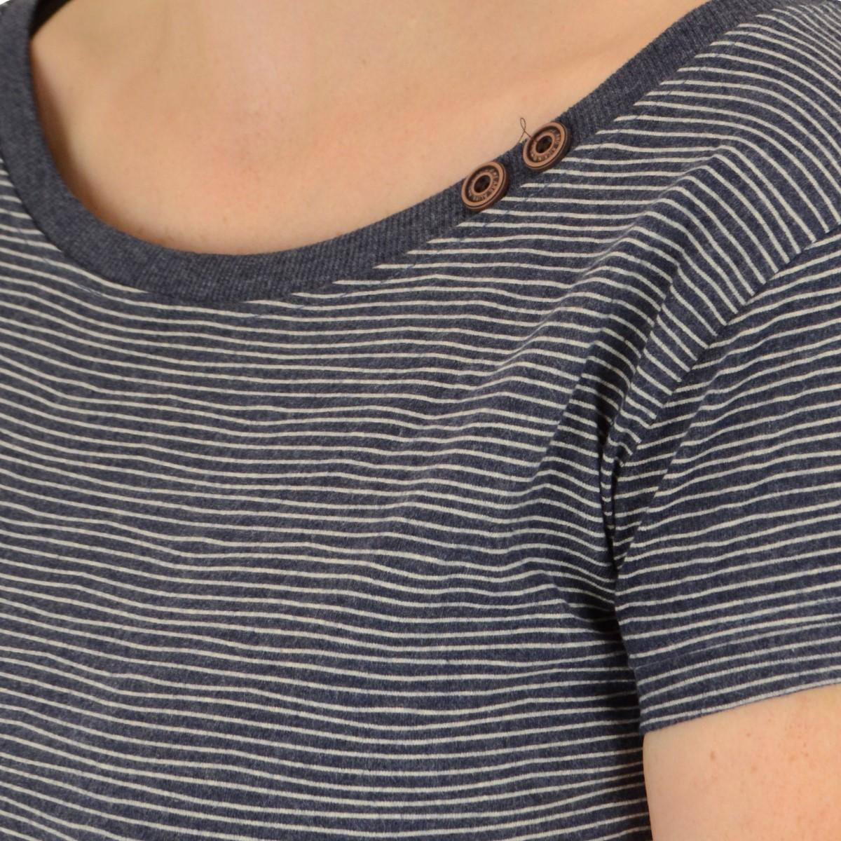 Alife and Kickin Damen T-Shirt COCO marine stripes