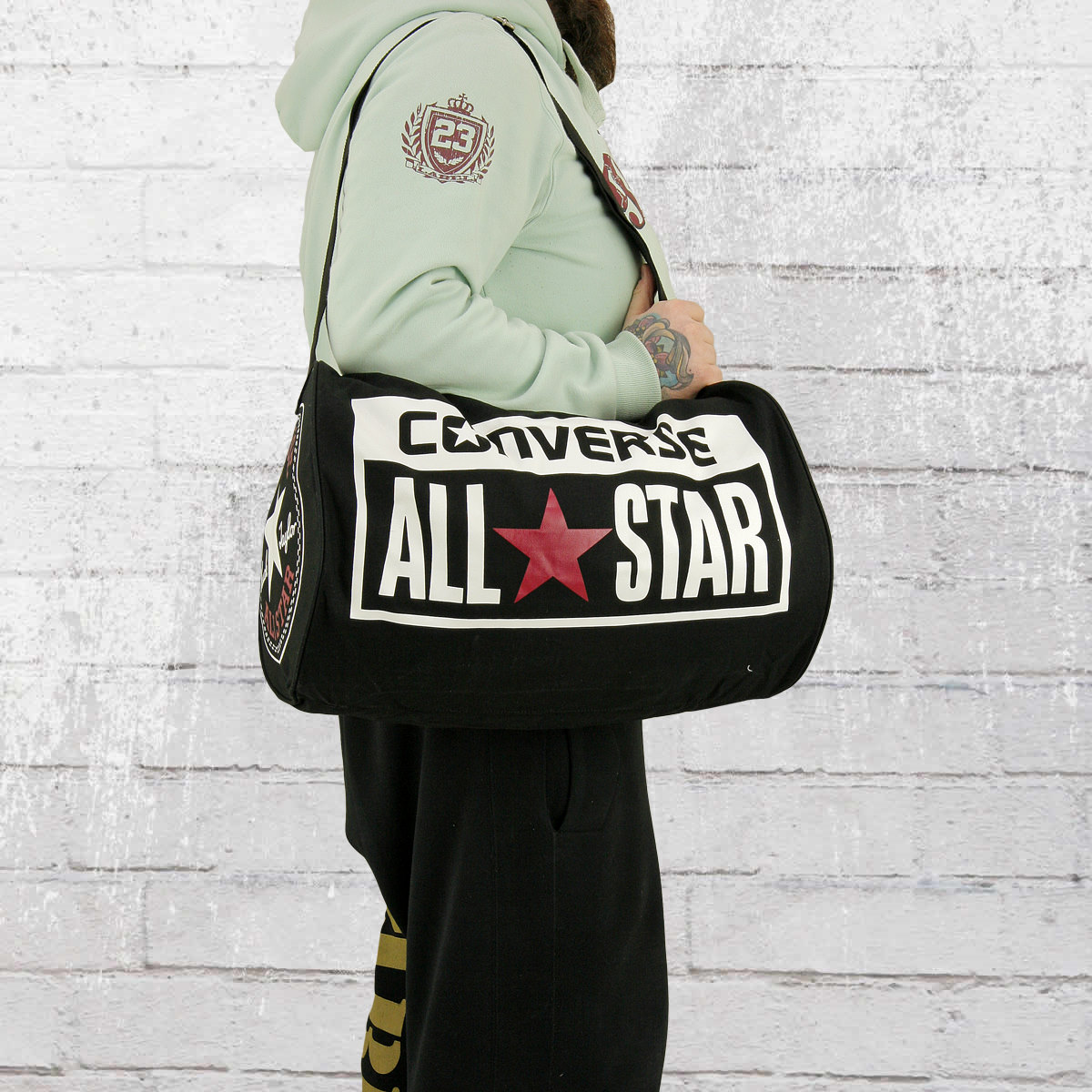 Converse Legacy Duffel Shoulder Bag navy red 39 d8a120bcdb333