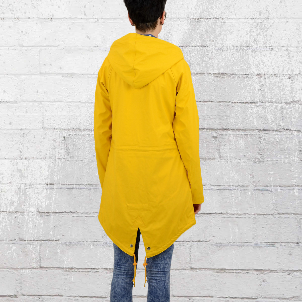 derbe regenjacke dots travel friese frauen regenmantel gelb jetzt bestellen. Black Bedroom Furniture Sets. Home Design Ideas